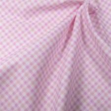 Cotton Fabric Per Yard Sweet Gingham Check, Pink Peach White, Marcus Brothers
