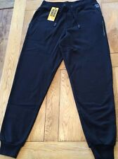 Men's black, tonal details DRUNKNMUNKY fleece jog/casual pants, SMALL, I/L 31""