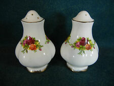 "Royal Albert Old Country Roses 3"" Salt and Pepper Shaker Set - England"