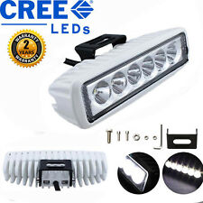 White 18W OffRoad Driving Fog Work Cree LED Bar Light Spot Lamp Boat Truck 4x4