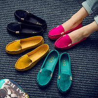 Womens Soft Rubber Moccasin Ballerina Ballet Flat Loafers Slip On Pumps Shoes SZ