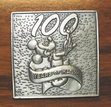 """Walt Disney World """"100 Years of Magic"""" 1 1/2"""" Inches Tall Pewter Collectible Pin"""