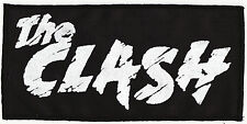 THE CLASH 1977 LARGE BLACK AND WHITE PRINTED PATCH PUNK ROCK JOE STRUMMER