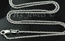 4.80 grams 14k solid white gold rope chain necklace 22 inches italian #3442