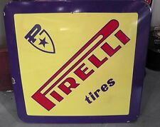 "Vintage Pirelli Tire Porcelain Display Sign 28"" Authentic *RARE*"