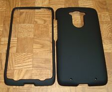 BLACK Snap on Case Cover for Motorola Moto Maxx XT1225 Quark Ballistic Nylon