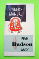 Original 1956 HUDSON WASP OWNER MANUAL Factory Original NOS w/ Accessories!