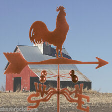 Traditional Barn Rooster Weathervane with Roof Mount - Chicken