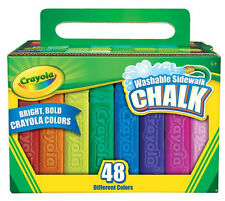 48 Washable Sidewalk Bright Bold Chalks Colors from Crayola