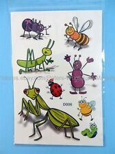 "*US SELLER*cheap fake tattoo bee bug 6""X4"" body art temporary tattoos"