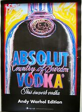 Original Vintage Andy Warhol Publicity Poster, Absolute Vodka, 1980's