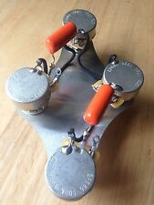 50's Les Paul Wiring Gibson Epiphone 500k CTS Long Shaft Pots .047 Orange Drop