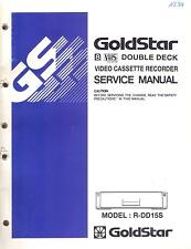 Goldstar original Service Manual para R-dd 15s 8mm-vhs - Double-Deck