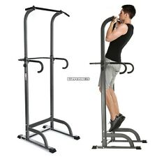 "81"" Power Tower Station Dip Pull Up Push Chin Fitness Exercise Gym Home US SHIP"