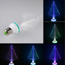 E27 Colorful LED RGB Colorful Fiber optics Light Bulb Lamp Xmas Chrismas Party
