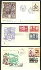 VATICAN 1947-60 COLLECTION OF 8 FDC's INCLUDING OLYMPICS, UNESCO, SIXTINE CHAPEL