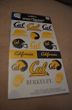 CALIFORNIA GOLDEN BEARS SET OF SPIRIT LOGO STICKERS!!