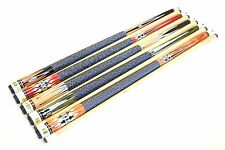 "SET OF 5 POOL CUES New 58"" Canadian Maple Billiard Pool Cue Stick #6 FREE SHIP"