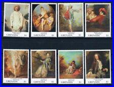 GRENADA 1993 WATTEAU PAINTINGS MNH NUDE, COSTUMES