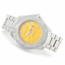NEW ANDROID MENS DIVEMASTER 200 STAINLESS STEEL YELLOW DIAL DIVE WATCH WITH CASE