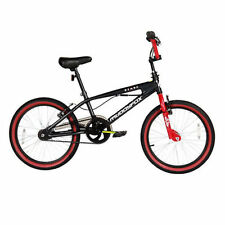 "MUDDYFOX DEMON 20"" INCH WHEEL STEEL 11"" FRAME BMX BICYCLE BIKE BLACK RED RRP£179"
