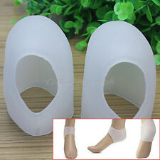 Pair Silicone Gel Heel Feet Protector Plantar Care Fasciitis Pain Relief Cushion