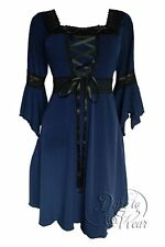 RENAISSANCE Gothic Victorian MIDNIGHT BLUE Corset Dress Size 3XL/3X  20-22
