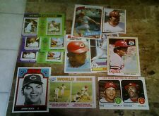 johnny bench 1975 3ct+ 1973 + 1977-80 + all time reds + sticker   11 cards nrmt