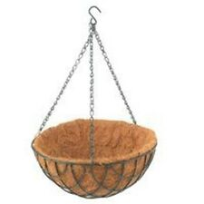 """NEW MINTCRFAT CASE OF (10) COCONUT 12"""" FLOWER HANGING BASKET PLANTERS 0951673"""