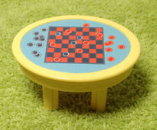 1999 Fisher Price Loving Family Dollhouse Game Table W/ Checkers Board Game