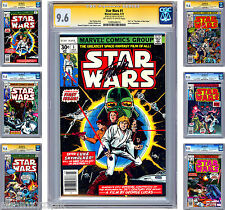 STAR WARS #1-6 CGC-SS 9.6 ISSUES #1-2 & 5 SIGNED COMPLETE MOVIE ADAPTATION 1977