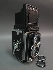 Vintage Rolleiflex Synchro-Compur 75mm 3.5 TLR Medium Format Camera w/ Case