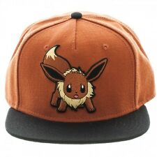 OFFICIAL POKEMON EEVEE COLOUR BLOCK BROWN SNAPBACK CAP (BRAND NEW)