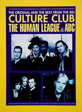 Culture Club / Human League / ABC UK Tour 1998 A5 flyer...ideal for framing!