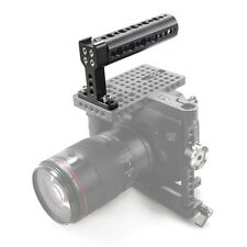 Camera Top Handle Cheese Handle with Cold Shoe for DSLR Camera Cage Camcorder