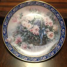 "Lena Liu's Basket Bouquets Plate Collection 1st Plate ""Roses"" Limited Edition"