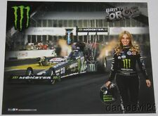 2016 Brittany Force Monster Top Fuel NHRA postcard