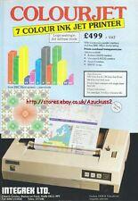 Colourjet 7 Colour Vintage Ink Jet Printer 1984 Magazine Advert #5223