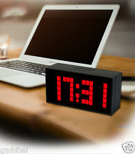 Red Led Digital Alarm Clock Bedside Snooze Timer Kitchen Wall Watch Thermometer