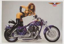 Postcard Nude Sexy Bikini Girl Topless Breast Bike Motorcycle Post Card 6381