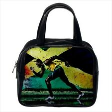 Usain Bolt Track And Field Leather Handbag Purse