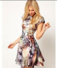 Ted Baker Mecia dress Diamond Sequin print Skater Size 4 UK 14