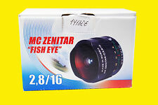 Lens MC Zenitar-M f/2.8/16mm Fish Eye. M42 screw mount. New