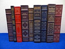 9 NEVER READ Lot Franklin Library Leather Bound Books PREJUDICE DICKENS MADAME