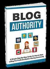 BLOG AUTHORITY Shows You How To Start A Blog For Profit And A Community (CD-ROM)