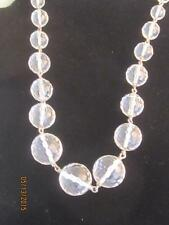 FAB HONEYCOMB FACETED GRADUATED 18MM - 8MM CRYSTAL BEAD NECKLACE