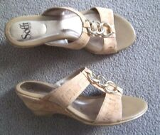 Ladies Cork Covered Sofft Heels Shoes 8 M