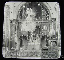 Glass Magic Lantern Slide CHURCH OF ST JAMES  JERUSALEM C1910 ISRAEL