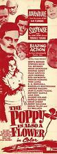 THE POPPY IS ALSO A FLOWER Movie POSTER 14x36 Insert E.G. Marshall Trevor Howard