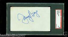 Danny Ainge Autographed Index Card SGC Authentic Encased